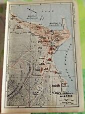 1930 the guide of the old town Ajaccio Department 20 old map art print