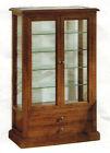 Vetrina cristalliera mobile classico legno massello arte povera 2ante vetrinetta