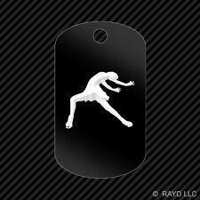 Figure Skater Keychain GI dog tag engraved many colors  skating female girl #1