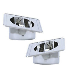 67-72 Chevy GMC Pickup Truck Chrome Defroster Defrost Duct Left & Right Side Set