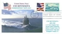 USS MINNESOTA SSN-783 USN Submarine Color Photo Cacheted First Day of Issue PM