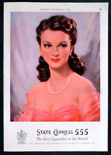 STATE EXPRESS 555 CIGARETTES 1951 MAGAZINE ADVERT