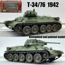 WWII Russian T-34/76 tank 1942 green 1/72 finished no diecast Easy model