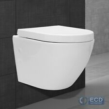 Spülrandloses Wand Hänge WC Spülrandlos Toilette Tiefspüler mit Sitz Softclose