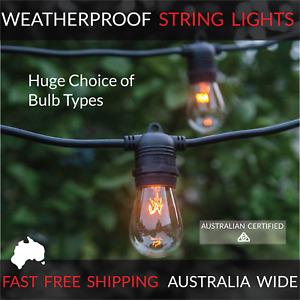 20m Black Festoon String Lighting | Huge Selection of Globe, Outdoor Party Patio