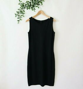 St. John Caviar Women's Sleeveless Knit Sheath Dress Size 6 Black