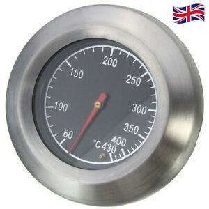 Stainless Steel Temperature Thermometer Gauge Barbecue Grill Thermostat Tool UK