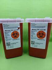 2 Quart Sharps Containers Biohazard Needle Disposal Tattoo Brand New