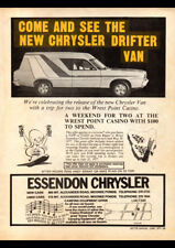 "1977 CHRYSLER VALIANT CL DRIFTER PANEL VAN AD A3 CANVAS PRINT POSTER 16.5""x11.7"""