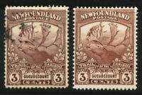 Newfoundland SG 132a Cat £16 3 Cents Red Brown Caribou Very Lighly Mounted Mint