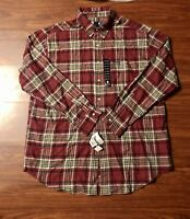Vintage Ralph Lauren CHAPS Flannel Shirt Button Up Plaid 2XL XXL 100% Cotton