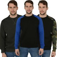 New Mens Sweatshirts Various Styles, Camo Plain Top Jumpers Sweat Work Jersey