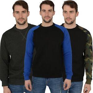 New Mens Sweatshirts Various Styles, Camo Plain Top Jumpers Sweat Work Jersey