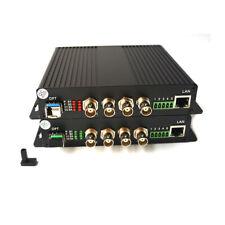 4HD SDI Fiber optic Extenders Video Audio Ethernet RS485 over Fiber Converter LC
