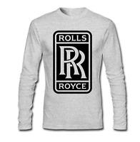 Men's Rolls Royce Logo Long Sleeve T-Shirt