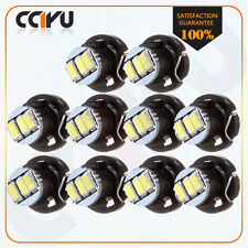 10X White 3014 3SMD T4/T4.2 Neo Wedge LED Dash Cluster A/C Climate Lights Lamp
