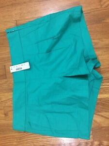 J Crew  Pleated Short In Structured Cotton Green  57806 Size 6 New with Tags