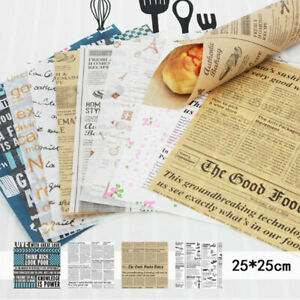 50Pcs Wax Grease Paper Food Wrappers Wrapping Paper For Bread Baking Tools sq
