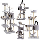 """Cat Tree Cats Tower 63"""" Multi-Level for Indoor House w/ Hammock Scratching Posts"""