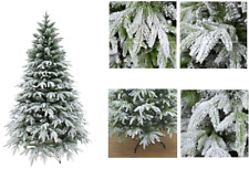 White Snow Covered Christmas Tree  Xmas Decorations 4ft 5ft 6ft 7ft 8ft 10ft