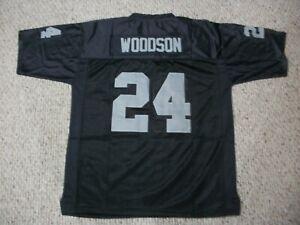 CHARLES WOODSON Unsigned Custom Oakland Black Sewn New Football Jersey Sze S-3XL