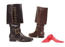 Black Captain Hook Renaissance Fair Medieval Knight Costume Boots Mens 8 9 10