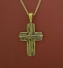 Cross necklace Pendant and Gold Plated chain