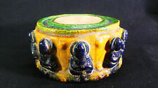 RARE Chinese Tang Dyn. Buddhist Temple/Shrine Sancai 3-Color Porcelain Ink Stone