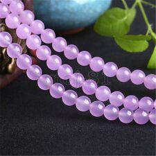 6MM Natural Purple Chalcedony Round Gemstone Loose Beads 15'' Strand AAA