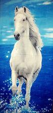 Strandtuch Handtuch Badetuch Pferd Weiß Schimmel 100% Baumwolle ca.140 x 70