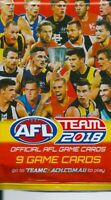 2018 afl teamcoach 5x single sealed packets-in stock