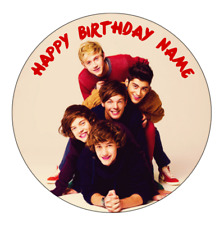 One Direction Personalised Edible Birthday Cake Decoration Topper Image