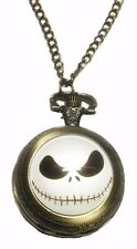 Nightmare Before Christmas Jack Skellington Bronzetone Pendant/Pocket Watch