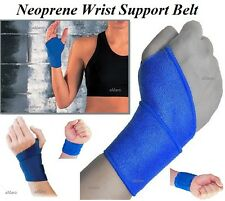 Neoprene Hand Wrist Palm Thumb Adjustable Support Blue Glove Bandage Brace Gym