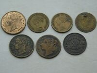 Collection 7 Queen Victoria Tokens To Hanover, Model Half Sovereign, Bovril etc.
