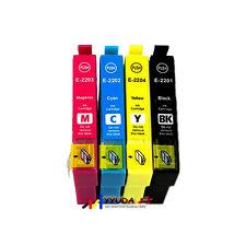 5x 220XL Compatible Ink w chip for Epson Workforce WF2760 WF2750 WF2660 Printer