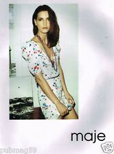 Publicité advertising 2010 Pret à porter vetements Maje
