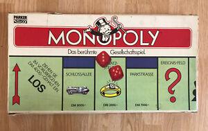 Monopoly - DM Version 1985 - alte Ausgabe - Metallfiguren vollständig