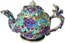Teapot Tea Pot Crystals Wedding Favor Gift Jewellery Jewelry Trinket Ring Box