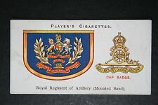 Royal Regiment of Artillery  (Mounted Band)  British Army  1920's Insignia Card