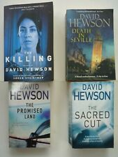 DAVID HEWSON - JOB LOT FOUR THRILLER FICTION PAPERBACK BOOKS