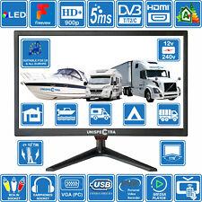 """20"""" Inch 12V / 240V HD+ LED Digital Freeview TV MOTORHOME BOAT KITCHEN USB PVR"""