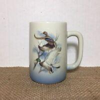 Otagiri Japan Mallard Duck by Walt Cude Coffee Mug Tea Cup Blue & White