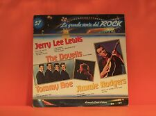 LA GRANDE STORIA DEL ROCK #57 JERRY LEE LEWIS / DOVELLS+ VARIOUS EX LP RECORD -Z