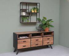 Original Brix Mango Wood Metal Wall Shelf Bookcase Fay 77cm x 80cm x 22cm