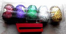 Ringelband,Eiknäuel mit Bandspleisser,Geschenkband,farbig Hologramm,Kräuselband