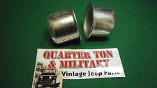 Jeep Willys MB GPW CJ2A M38 M38A1 Heavy hub cap Pair 7375143 A-869 These Fit!
