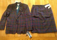 NWT Vintage PENDLETON 2 PIECE SUIT 100% VIRGIN WOOL SIZE 16 PETITE Made in USA