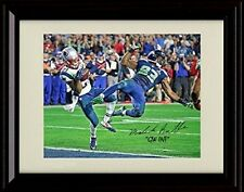 Framed Malcolm Butler Autograph Replica Print Game Winning Interception Patriots