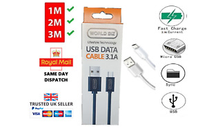 FAST Micro USB Charge & SYNC Data Cable 3.1A for Samsung, Sony, Huawei, Alcatel